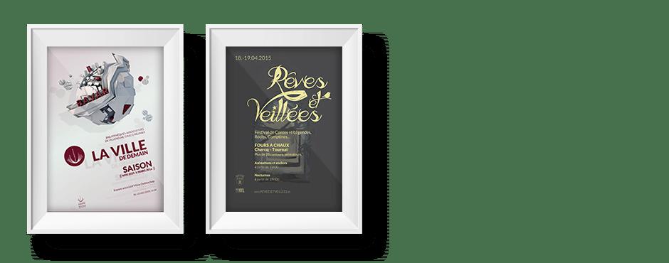Affiches B.A.V.A.R & Rêves et veillées